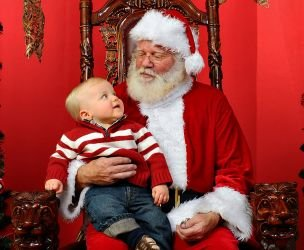 Getting ready to visit Santa