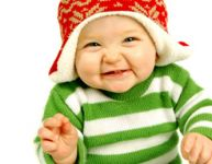 A baby's first Christmas