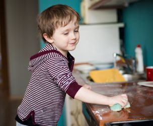 Kids' participation to house chores