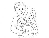 Dessin d'une famille