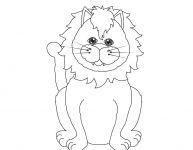 Dessin d'un lion