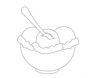 Dessin de crème glacée