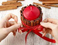 Parfaite pour Noël - une chandelle à la cannelle