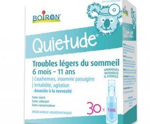 Banc d'essai : Boiron – Quietude pour les troubles légers du sommeil – les résultats