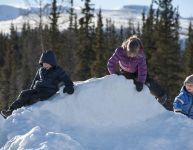 Jeux d'hiver pour tout-petits