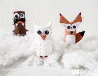 3 animaux d'hiver à fabriquer avec des rouleaux de papier